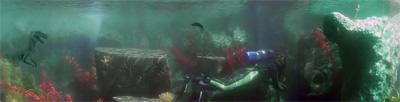 Finding Nemo Submarine Voyage dinosaurs (detail)