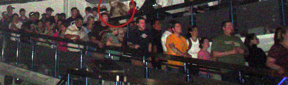 Bigfoot in a Disneyland ride queue?