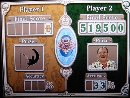 Toy Story Midway Mania scores