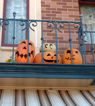 A pumpkin on Main Street