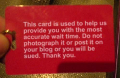 Line marker card