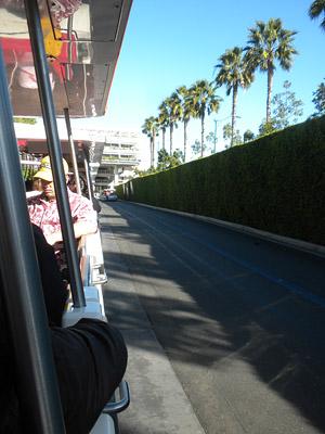 Aboard a tram