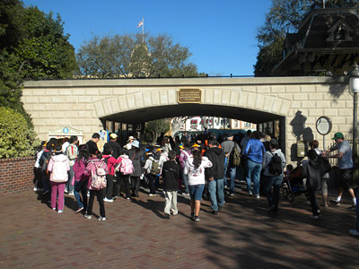 Disneyland Tour: Left entrance tunnel