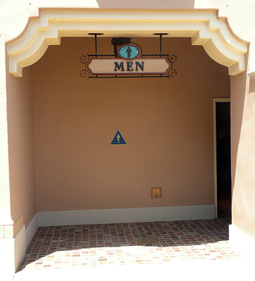 Buena Vista Street restroom entrance: Male version