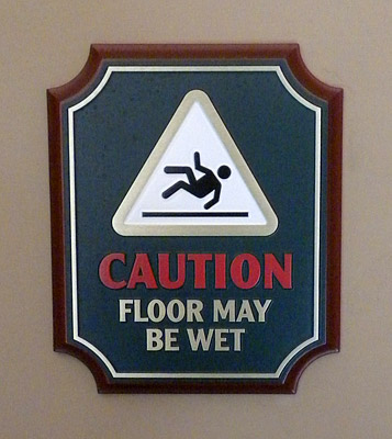 Wacky Buena Vista Street restroom signage