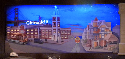 Ghirardelli animated mural