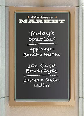 Mortimers Market sign