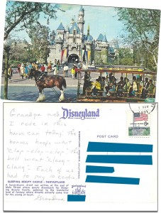 Horse car postcard