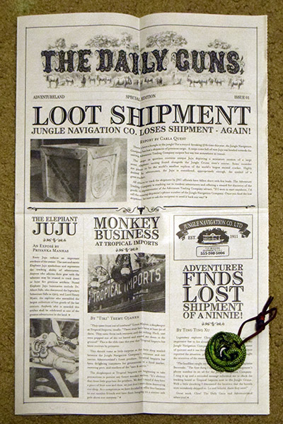 Adventureland newspaper