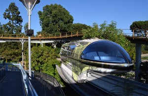 Disneyland's Monorail Chrome