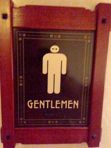 Baymax at the Grand Californian Hotel restroom